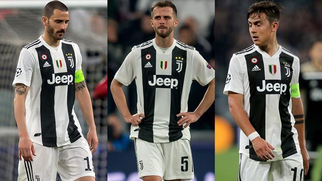 Bonucci, Pjanic, Dybala: la spina dorsale che ha tradito la Juventus contro l'Ajax