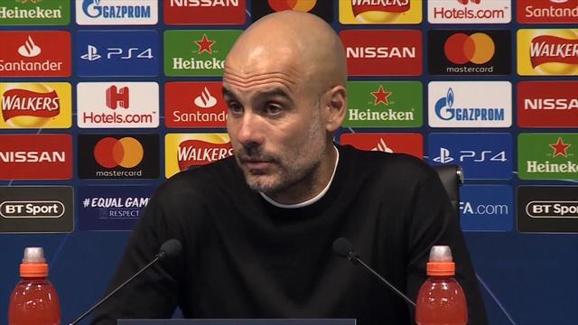 """Guardiola: """"Io sono per la VAR e il calcio leale, ma sul gol di Llorente c'è fallo di mano"""""""