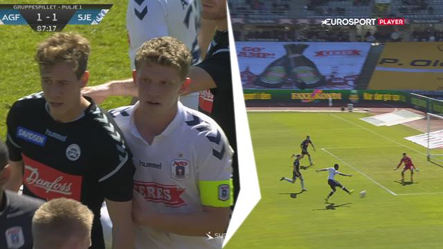 Highlights: Bundu gav AGF en 2-1-sejr efter hektisk afslutning, hvor SønderjyskE så rødt