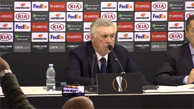 """Ancelotti: """"Napoli competitivo con squadre che hanno il triplo o il quadruplo del suo fatturato"""""""