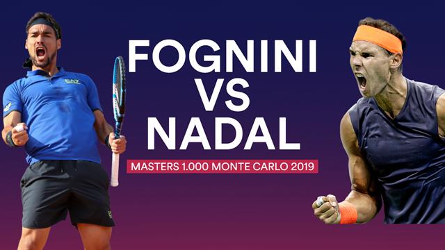 Masters Monte Carlo 2019, Fognini-Nadal: Reencuentro con un viejo conocido (15:30)