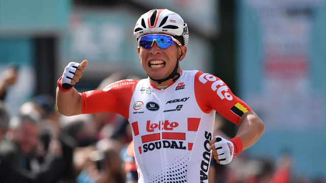 Ewan beats Viviani and Ackermann to end Giro drought in thrilling sprint finish