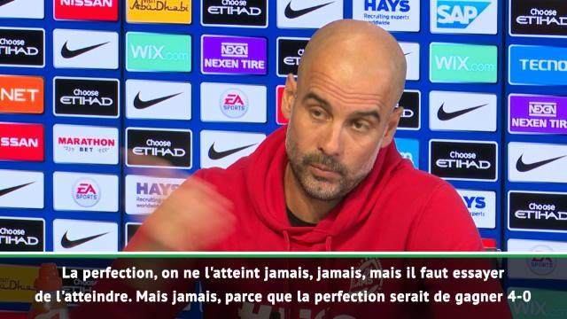 """Guardiola : """"La perfection, on ne l'atteint jamais"""""""