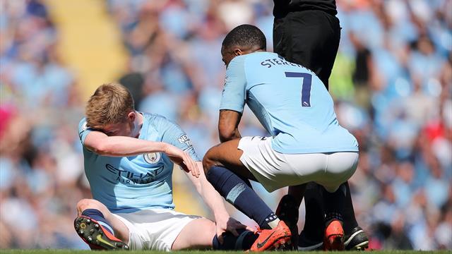 De Bruyne goes off injured during City v Spurs