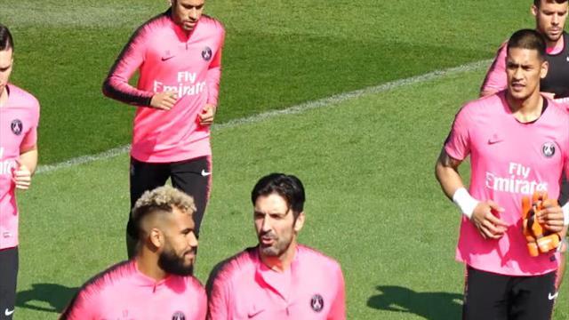 Neymar a bien participé à l'entraînement, à la veille du match face à Monaco