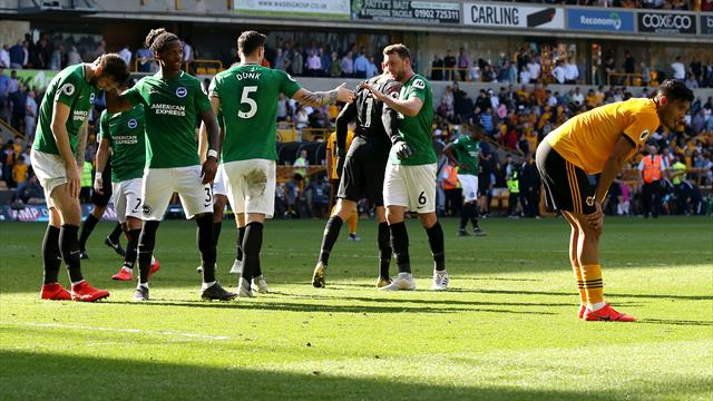 Brighton hold on to claim precious point at Wolves