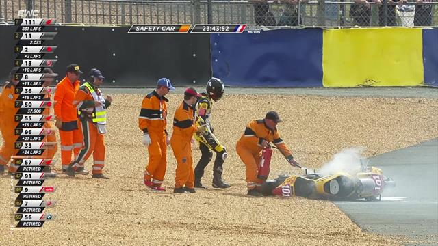 Crash, flames and safety car in dramatic finale!