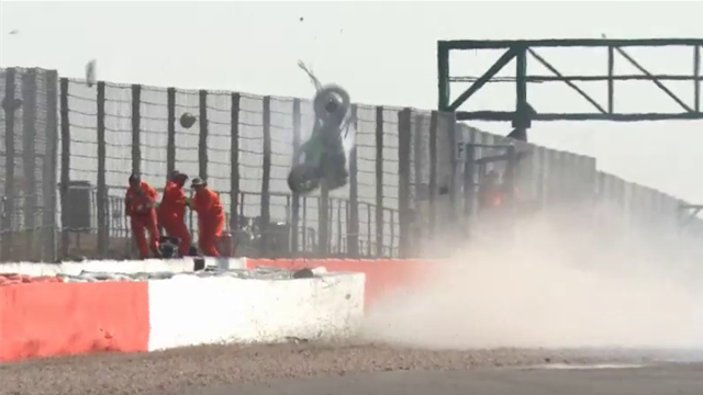 Barry Teasdale and Paul McClung in huge crash at Silverstone