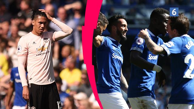 Highlights: Everton udraderede sløje Manchester United med hele 4-0
