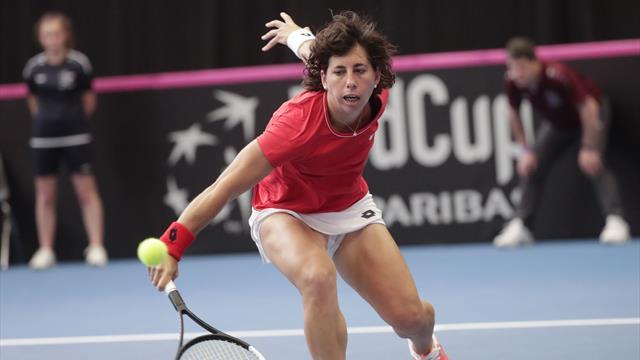 Copa Federación, Bélgica-España: Carla Suárez gana y la eliminatoria se decidirá en el doble (2-2)