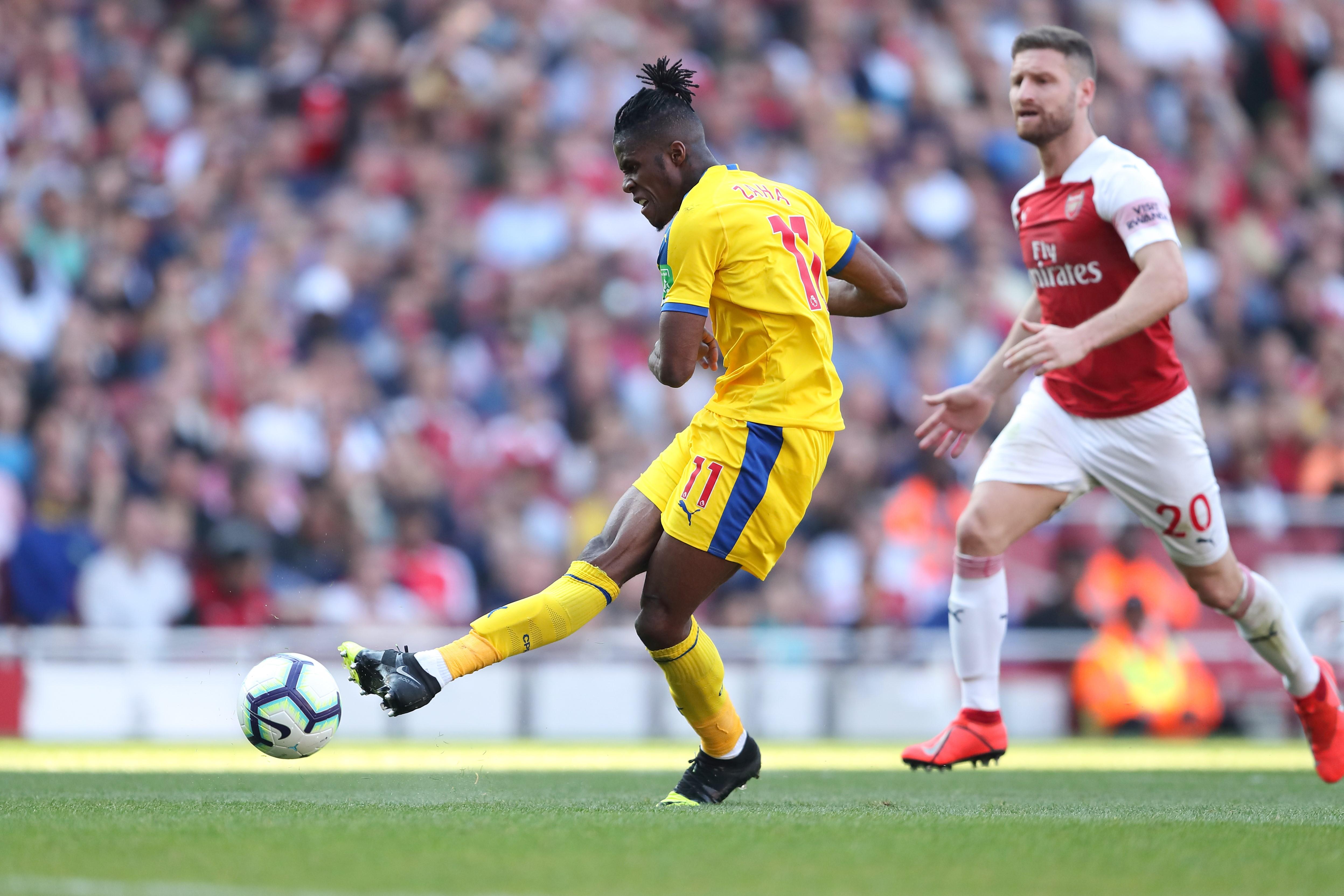 Wilfried Zaha lors de la rencontre Arsenal-Crystal Palace
