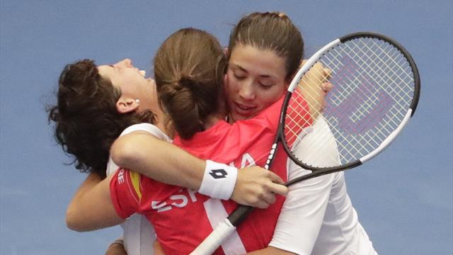 Copa Federación, Bélgica-España: Garbiñe y Carla nos devuelven al Grupo Mundial (2-3)