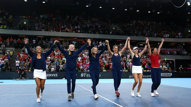 Boulter win seals Fed Cup promotion for Britain