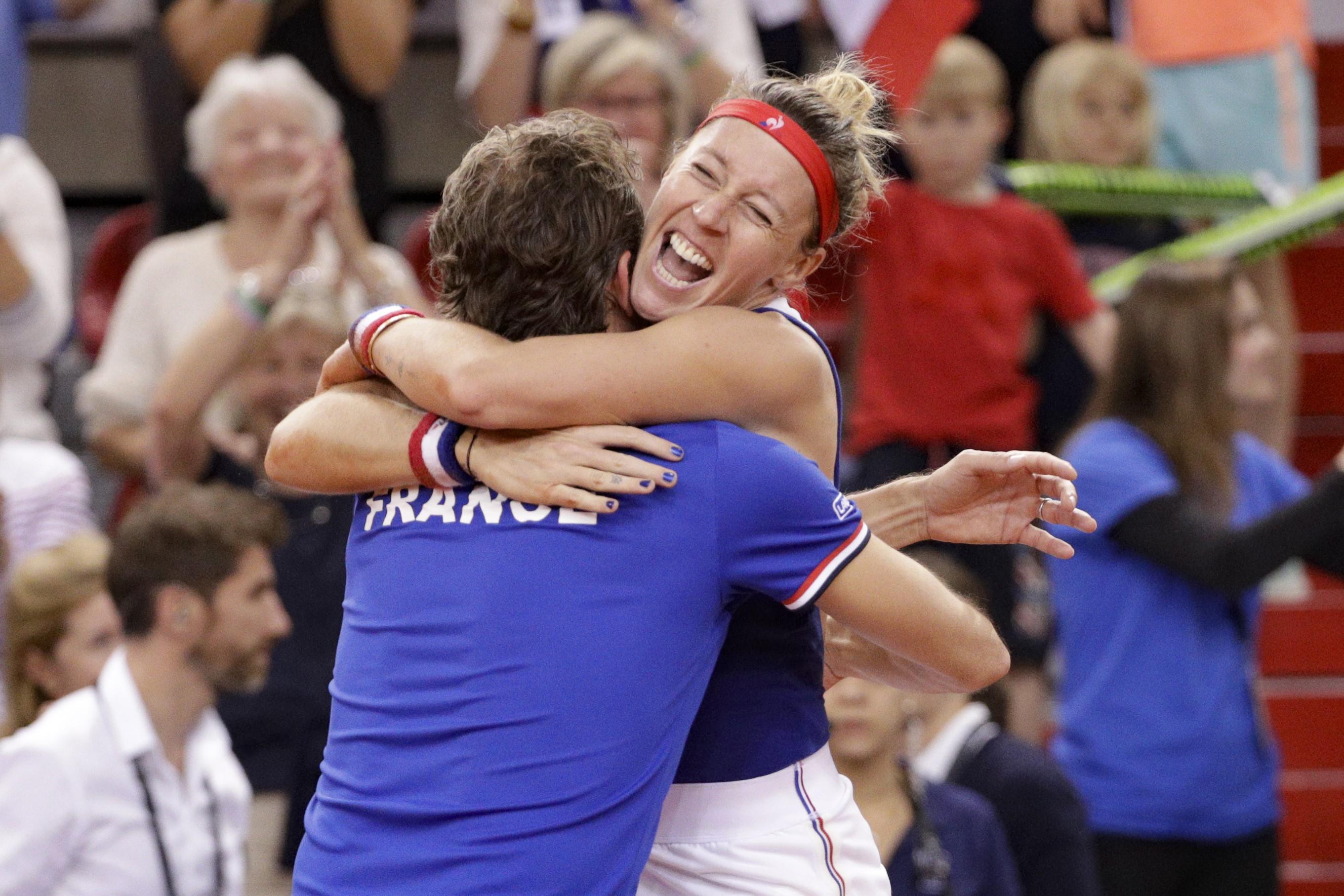 Pauline Parmentier en Fed Cup