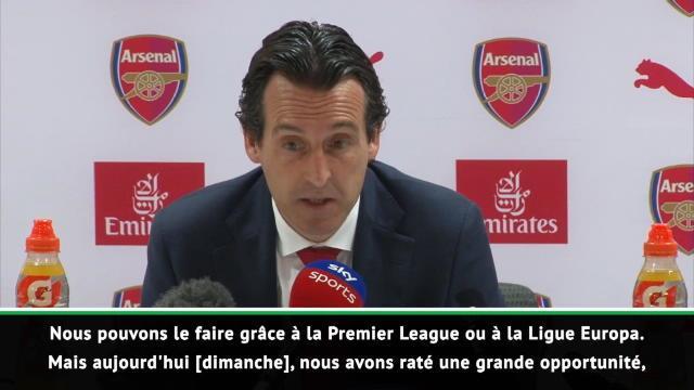 """35e j. - Emery : """"Nous avons raté une grande opportunité"""""""