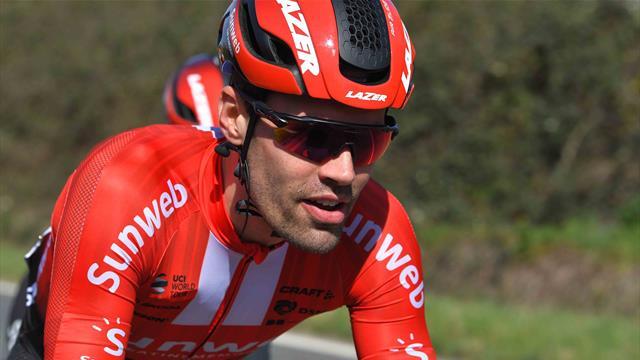 Tom Dumoulin stringe i denti: l'olandese è al via della quinta tappa dopo l'incidente