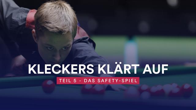 Snooker-Tutorial: Das Safety-Spiel - so setzt man den Gegner unter Druck