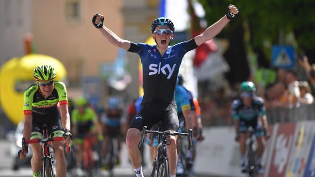 Geoghegan Hart gagne, Nibali se teste