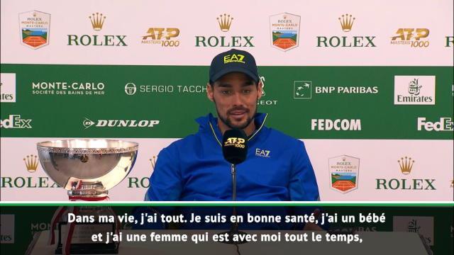 """Monte-Carlo - Fognini :""""Je suis heureux"""""""