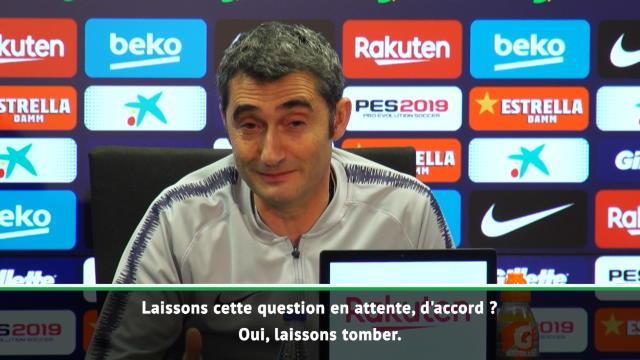 """33e j. - Valverde : """"Gagnons d'abord et ensuite nous nous demanderons comment célébrer"""""""