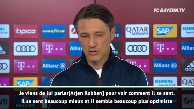 Bundesliga: Bayern - Kovac donne des nouvelles d'Arjen Robben