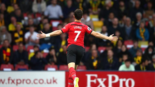 Long scores fastest Premier League goal but Southampton held at Watford