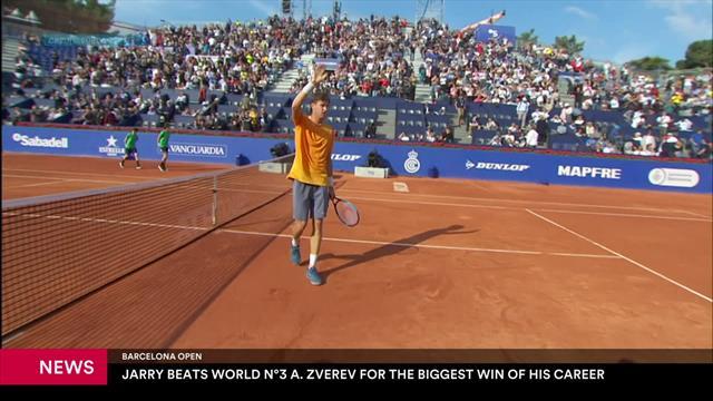 Jarry stuns Zverev in Barcelona