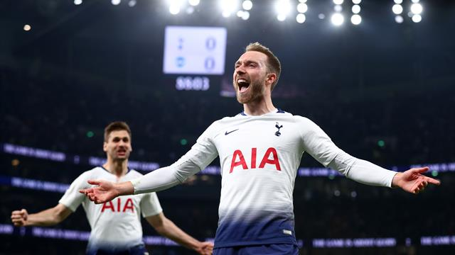 Late Eriksen strike gives Spurs vital win over Brighton