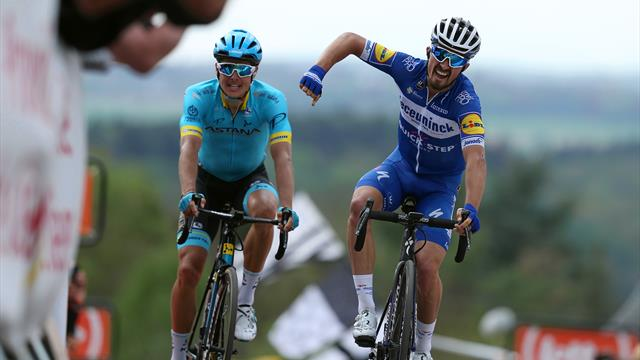 Alaphilippe delivers on the Mur de Huy to win La Flèche Wallonne