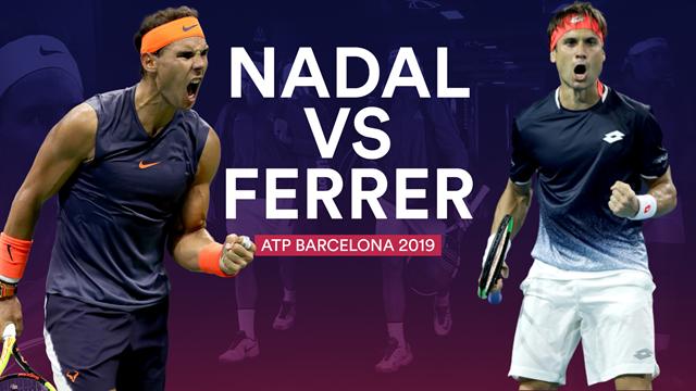 ATP Barcelona 2019, Rafa Nadal-David Ferrer: Un regalo para el tenis español (15:00)