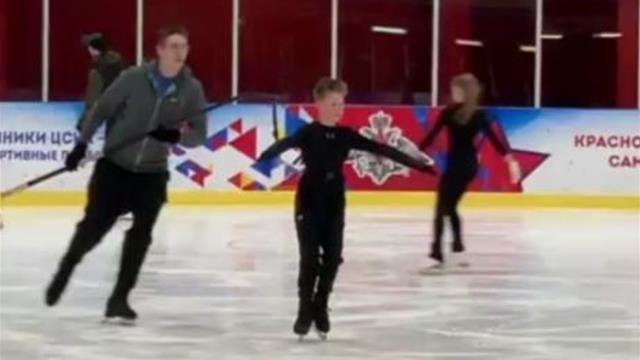 12-летний фигурист из России выполнил пятерной прыжок со страховкой