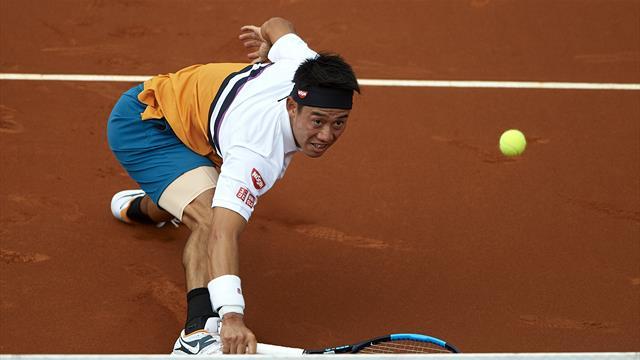 Nishikori domine un Carballés accrocheur