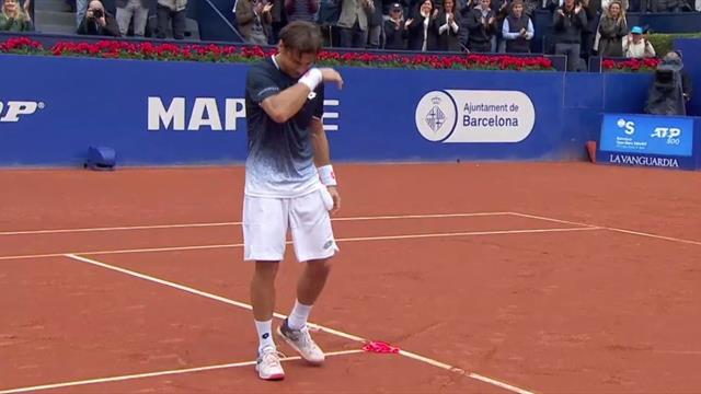 Las emocionantes lágrimas de David Ferrer por la entregada ovación del público en su despedida