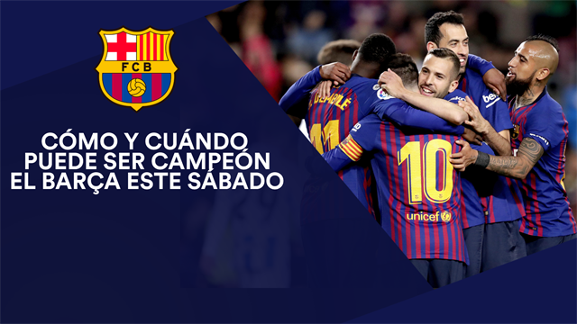 Cómo y cuándo puede ser campeón el Barça este sábado