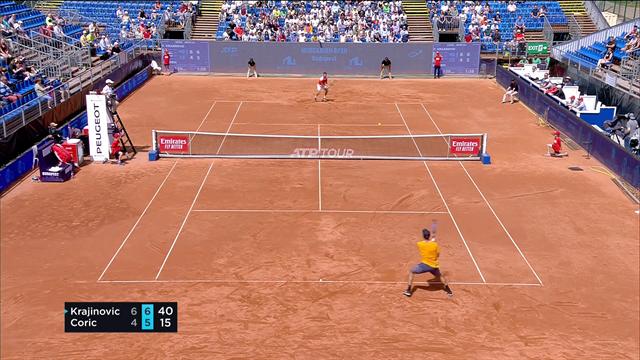 Coric était nerveux, Krajinovic en a profité pour se qualifier en demi-finale