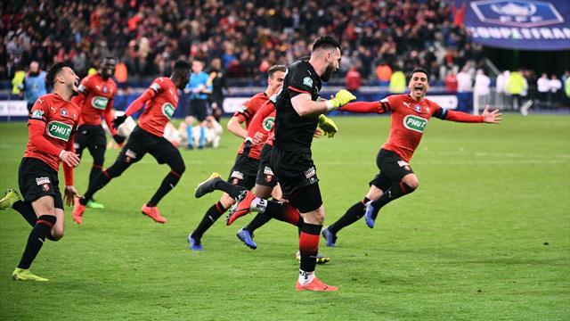 PSG avanti di due gol, poi rimontato: il Rennes vince la Coppa di Francia ai rigori!