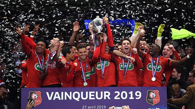 «ПСЖ» быстро забил 2, но в итоге отдал Кубок Франции «Ренну». Все голы этого безумия – тут