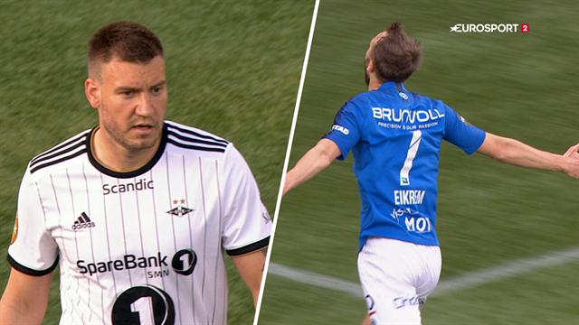 Highlights: Bendtner med fra start i totalt Rosenborg-kollaps