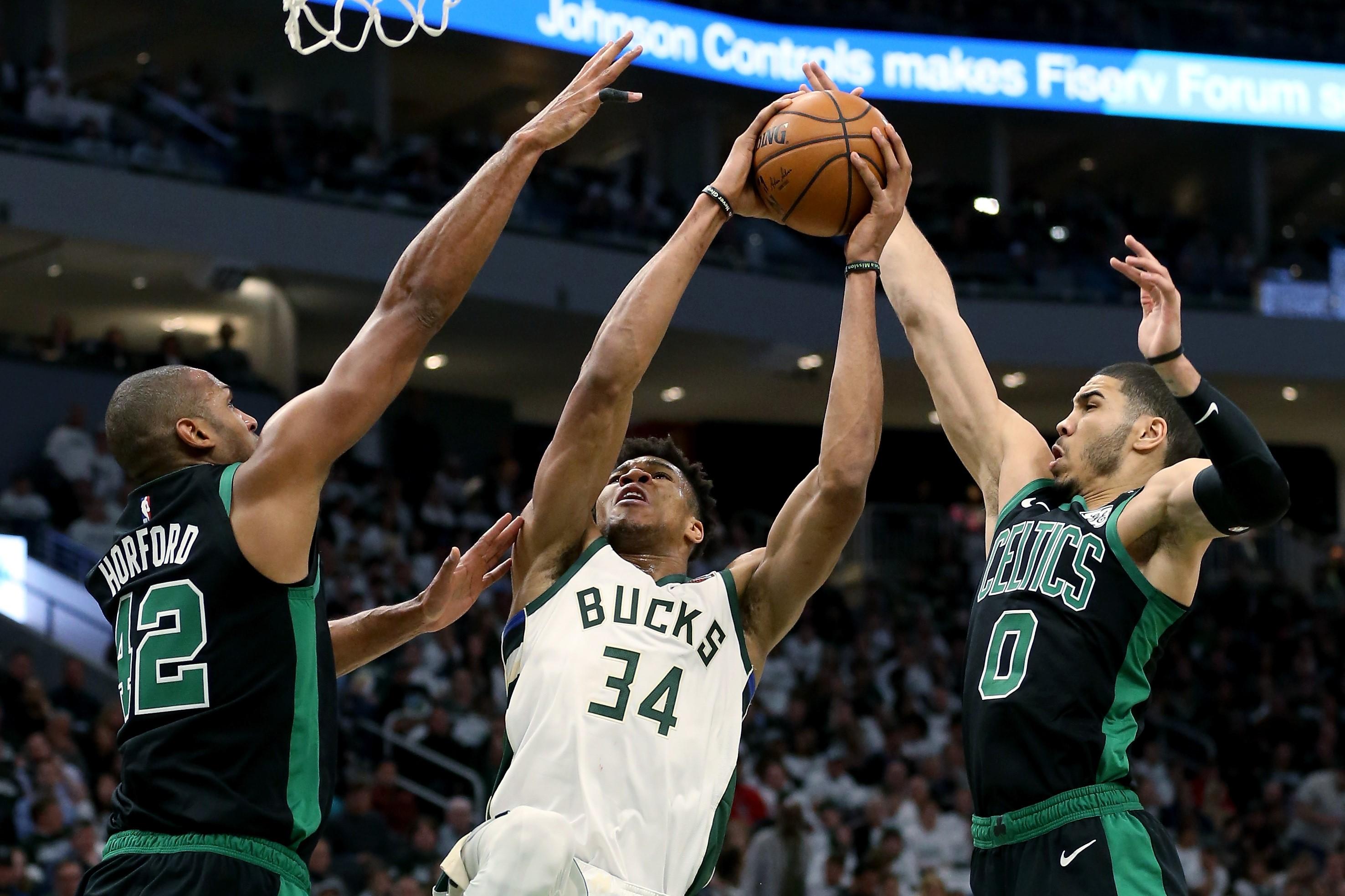 Giannis Antetokounmpo, Milwaukee Bucks vs Boston Celtics