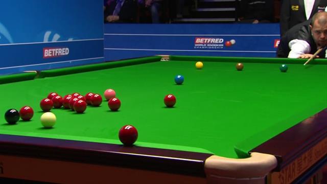 'It flies on to the floor' - Hawkins smacks red off table