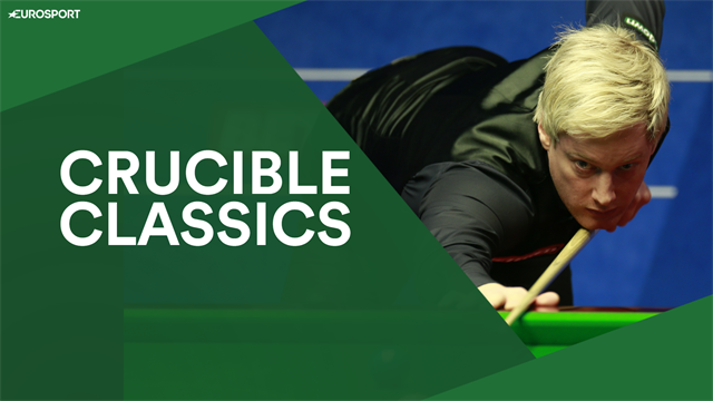 Crucible Classics: Neil Robertson attempts to recreate Alex Higgins' legendary blue