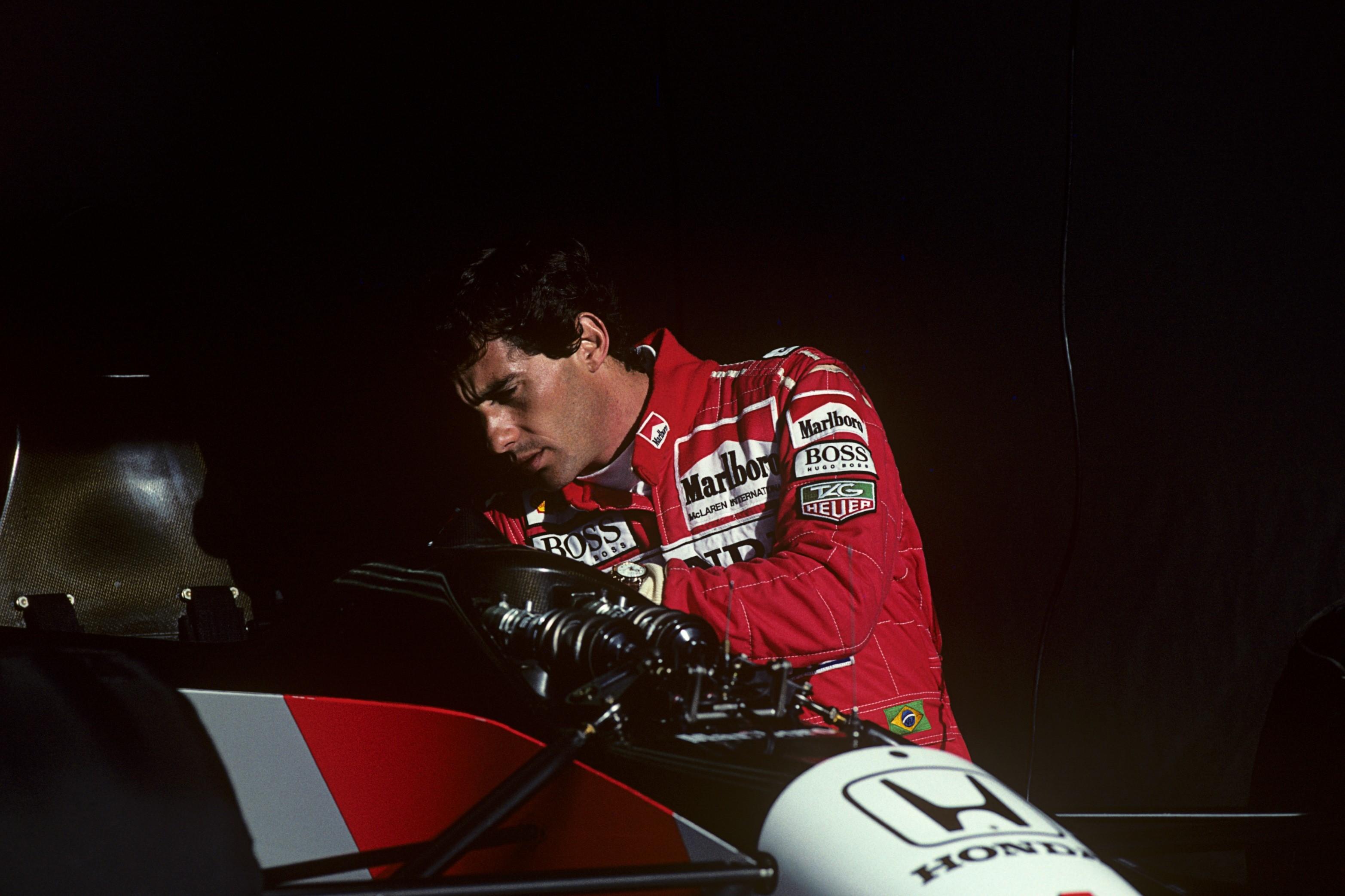 Ayrton Senna (McLaren) au Grand Prix du Portugal 1992