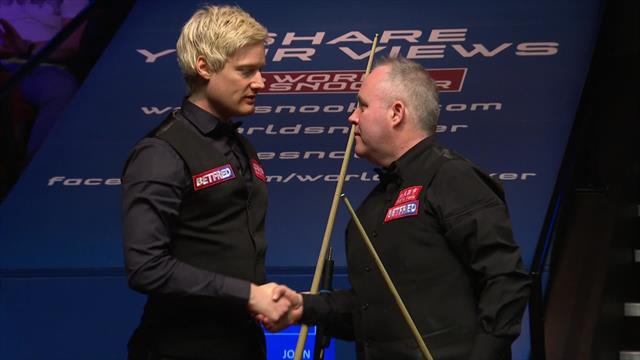 'This is what you call a classy finish!' - Higgins seals victory over Robertson in style