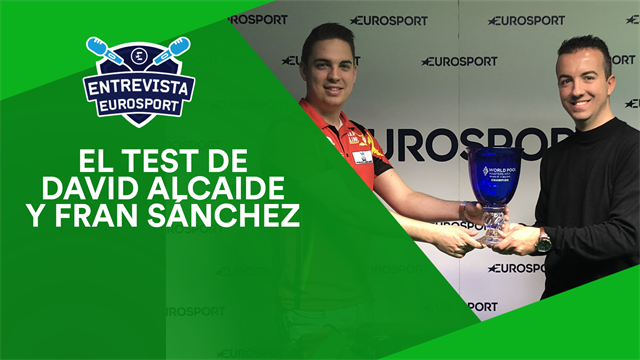 El test de David Alcaide y Fran Sánchez, comentaristas de snooker en Eurosport