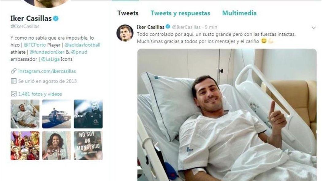 Resultado de imagen de Iker Casillas evoluciona favorablemente y sin complicaciones