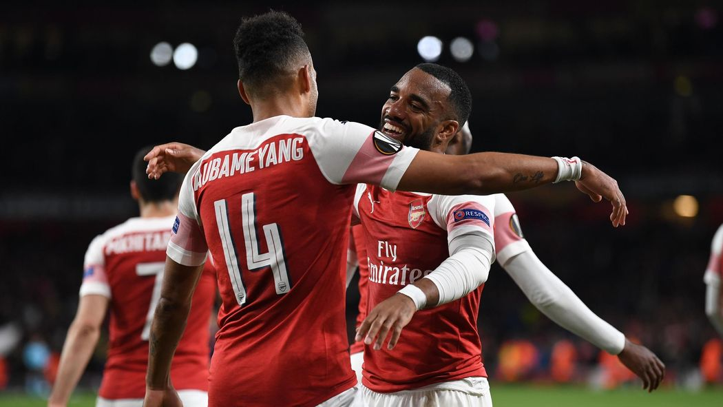 a32328ee643 Pierre-Emerick Aubameyang strikes late third to put Arsenal in control  against Valencia - Europa League 2018-2019 - Football - Eurosport UK