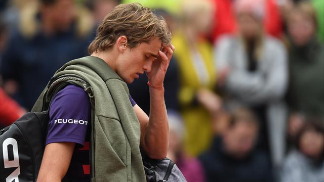 """Zverev geknickt: """"Es läuft gerade einfach alles gegen mich"""""""