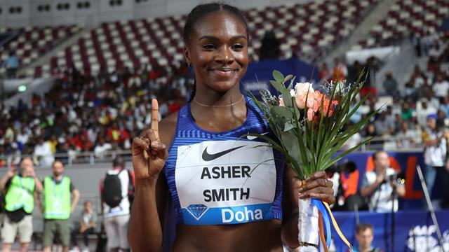 Brilliant Asher-Smith storms to 200m Diamond League win in Doha