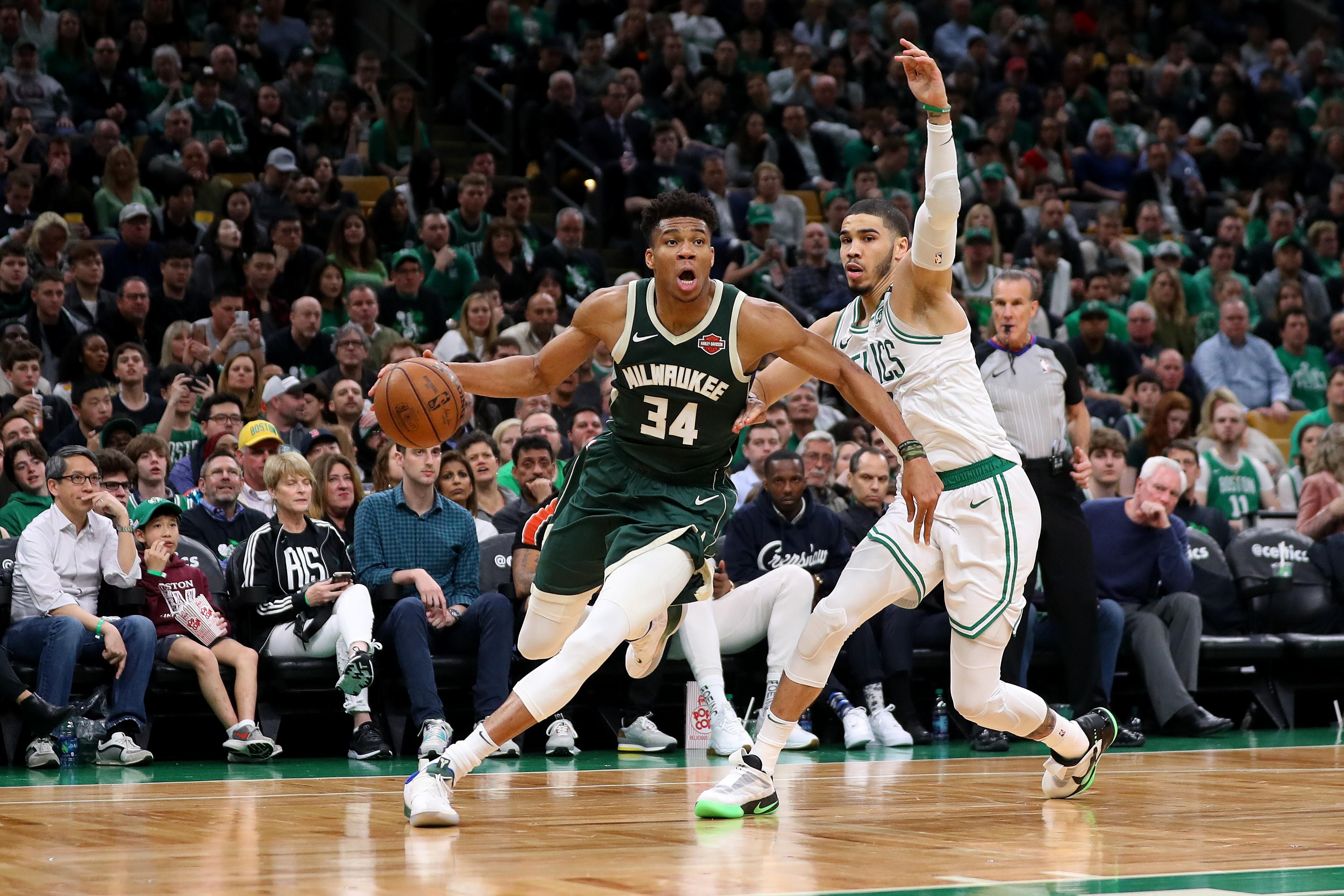 Giannis Antetokounmpo (Milwaukee Bucks) vs Jayson Tatum (Boston Celtics)