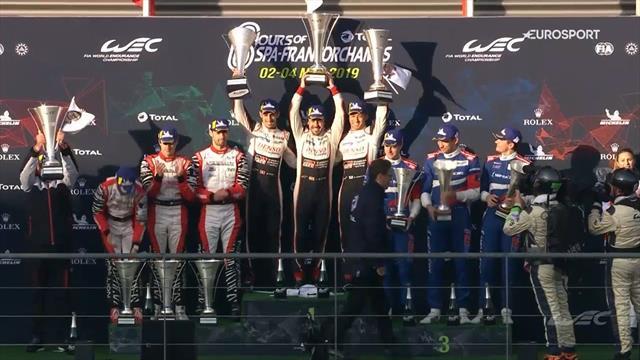 Seis Horas de Spa 2019: Así levantó Fernando Alonso el trofeo de campeón